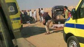 مصرع شخص وإصابة آخر في تصادم سيارة ربع نقل بدراجة بخارية في بورسعيد