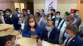 وزيرة التخطيط تفتتح وحدة المعالجة الثلاثية للصرف الصحي بسوهاج