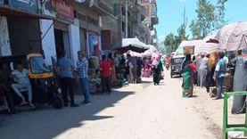 فض تجمعات الباعة الجائلين وسوق قرية أبو دشيشة في الدقهلية