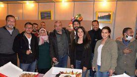 يوسف الشريف يحتفل بعيد ميلاد زوجته بكواليس مسلسل «كوفيد 25»
