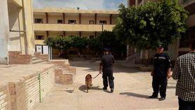 """صور.. كلاب بوليسية تمشط لجان انتخابات """"الشيوخ"""" بكفر الشيخ"""