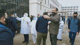 فرق طبية باللجان الامتحانية لرصد الطلاب المشتبه في إصابتهم بكورونا