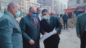 محافظ القاهرة يتفقد محور مسطرد بمنطقة شرق القاهرة .
