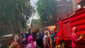 الحماية المدنية تسيطر على حريق في منزلين بطوخ دون خسائر بشرية