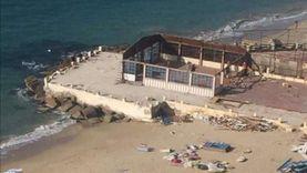 «رؤية البحر حق المواطن».. إزالة 3 كافتيريات على كورنيش إسكندرية