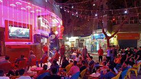 """مصريون على المقاهي أثناء متابعة حلقة """"فض رابعة"""" من الاختيار 2"""