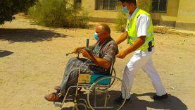 """صور.. توافد ذوي الهمم على لجان انتخابات """"الشيوخ"""" بجنوب سيناء"""