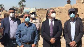 لجنة أثرية تتفقد أعمال موسم حفائر معبد الكرنك: ممشى ومقصورة وترميمات