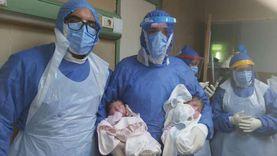 """مصابة بكورونا تضع توأم بـ""""طوارئ المنصورة"""": العملية نجحت.. والأم وولادها بخير"""
