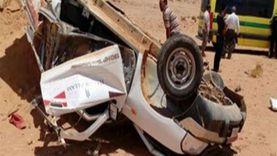 عاجل.. إصابة أسرة كاملة إثر انقلاب على الطريق الدولي بجنوب سيناء