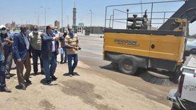 محافظ أسيوط يتفقد أعمال تطوير ونظافة الطريق الزراعي وميدان أم البطل