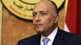 سامح شكري يبحث مع محمد المنفي دفع العملية السياسية الشاملة فى ليبيا
