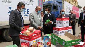 محافظ القاهرة يستقبل قافلة «أبواب الخير» لتوزيعها على المستحقين
