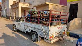 ضبط سائق بالإسماعيلية باع اسطوانات بوتاجاز معباة بالهواء
