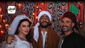 محمد رمضان وسمية الخشاب في مشهد الفرح.. مخرج مسلسل موسى يكشف تفاصيله