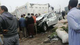 مصرع شخص وإصابة 11 في انقلاب سيارة بالشرقية