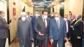 «المحرصاوي» يستقبل وزير التعليم العالي قبل اجتماع «الأعلى للجامعات»