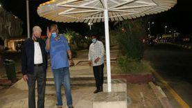 في جولة ليلية.. محافظ جنوب سيناء يتفقد اعمال تطوير «هضبة أم السيد»
