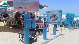 ممشى واستراحة.. تخصيص أماكن لذوي الهمم بشواطئ الإسكندرية