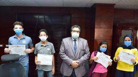 تكريم الفريق الفائز بمسابقة التربية البيئية بجنوب سيناء