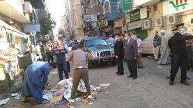 حملة مكبرة لإزالة الإشغالات وتعديات الباعة الجائلين بشارع رياض بأسيوط
