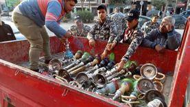 ضبط 9 تكاتك ومصادرة 24 شيشة في حملات لضبط المخالفين بالشرقية