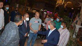 «محاضر وإغلاق» لمحال مخالفة فى حملات بقيادة محافظ المنيا