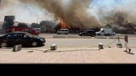 """مصدر أمني لـ""""الوطن"""": السيطرة على حريق الرماية.. ولا مصابين"""