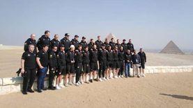 منتخبات كرة اليد تزور الأهرامات مع الالتزام بالإجراءات الاحترازية