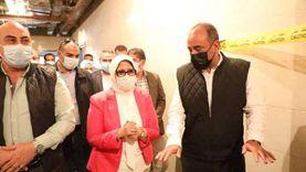 وزيرة الصحة تتفقد إنشاءات مستشفى كوم أمبو بـ408 ملايين جنيه