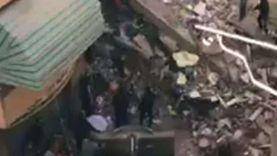 بالأسماء.. انتشال 4 جثث وإنقاذ 4 مصابين في انهيار «منزل المحلة»