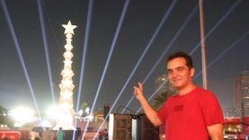 وليد الحريري يشعل احتفالية الاهلي بعرض عالمي لمجسم برج النجمة العاشرة