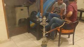 غلق وتشميع مقهى يقدم الشيشة بالعمرانية