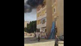 حريق بوحدة سكنية بمدينة الفردوس بحى عتاقة بالسويس