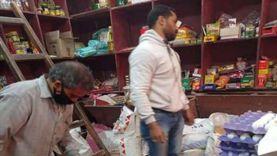 ضبط مواد غذائية منتهية الصلاحية في حملة بكفر شكر