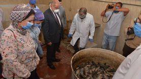 محافظ أسيوط يتفقد باكورة إنتاج مزارع أسماك المستشفى البيطري التعليمي