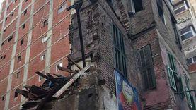 انهيار عقار قديم خال من السكان وسط الإسكندرية