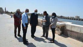 «الهجان» يتفقد أعمال ترميم كوبري محمد علي الأثري بالقناطر