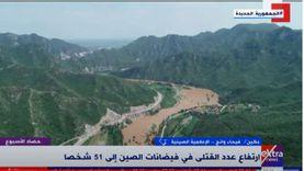إعلامية صينية: نقل 100 ألف شخص إلى أماكن آمنة بعد الفيضانات