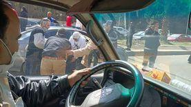 عاجل.. تكدس مروري في شارع الهرم بسبب حادث تصادم (صور)