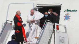 تفاصيل وصول بابا الفاتيكان إلى العراق وبدء زيارته التاريخية (صور)