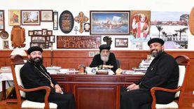 البابا يستقبل كاهنين من نيويوركوسفير مصر في موريشيوس