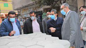 لعدم مطابقة للمواصفات.. محافظ الغربية يطالب بإعادة رصف شارع حسن رضوان