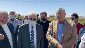 وزير الزراعة ومحافظ جنوب سيناء يتفقدان مزارع الإنتاج الزراعي