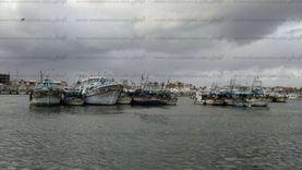 توقف حركة الصيد ببوغاز عزبة البرج في دمياط