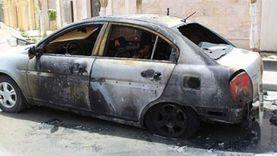 بالأسماء.. إصابة 4 أشخاص في حادث تفحم سيارة بالفيوم