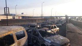 """""""القاهرة"""": البترول تعوض أصحاب 31 سيارة تفحمت في حريق طريق الإسماعيلية"""