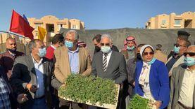وزير الزراعة يتفقد وحدة أقلمة الشتلات الزراعية بمدينة الطور