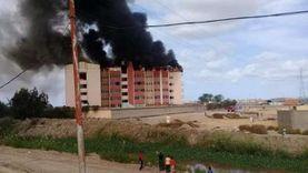 صور.. السيطرة على حريق داخل مدرسة في الإسكندرية
