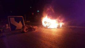 غلق الطريق الرئيسي وإضرام النار في سبيطلة التونسية.. وقوات الأمن ترد